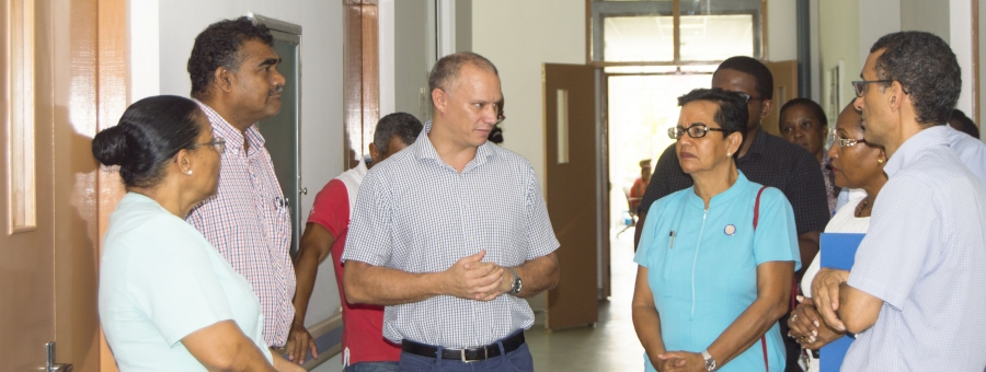 Official visit proffers consensus to improve Anse Royale Hospital