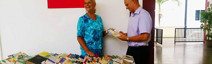 Order of Malta donates new books to health library