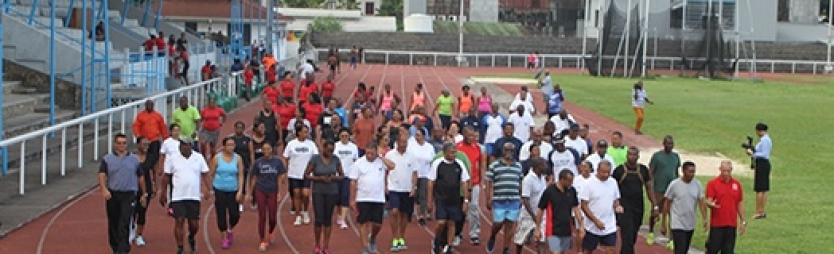 President sets example, leads weekly after-work physical activity sessions