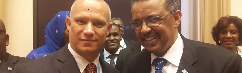 Seychelles World Health Assembly delegation congratulates first African Director General of World Health Organization